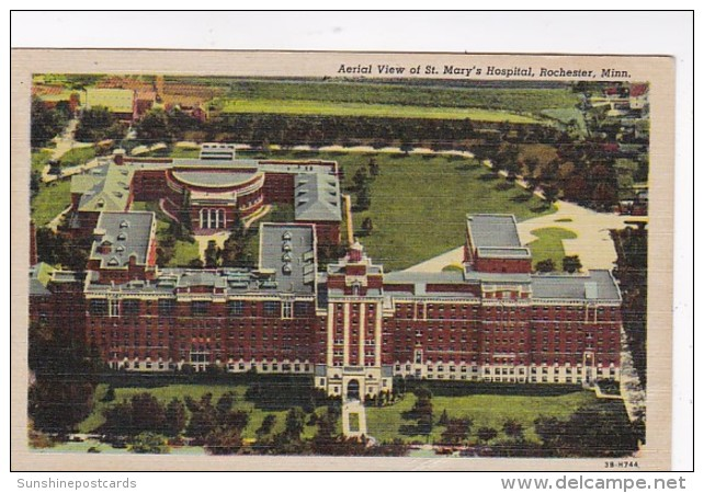 Minnesota Rochester Aerial View Of St Mary's Hospital 1951 Curte