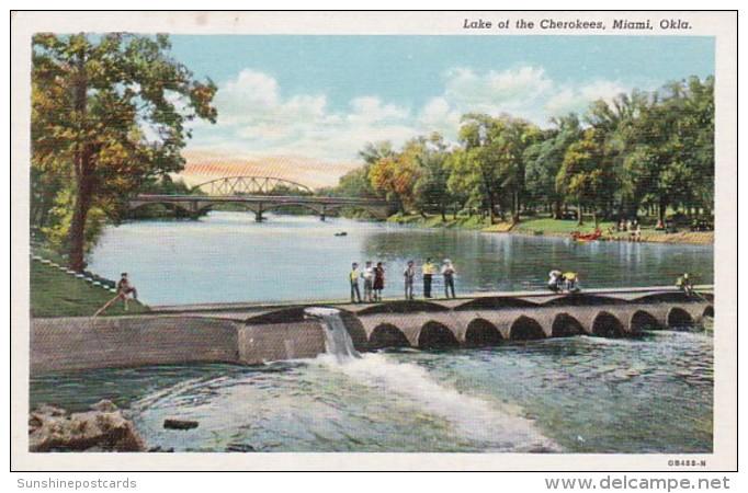 Oklahoma Miami Fishing At Dam At Lake of The Ozarks Curteich