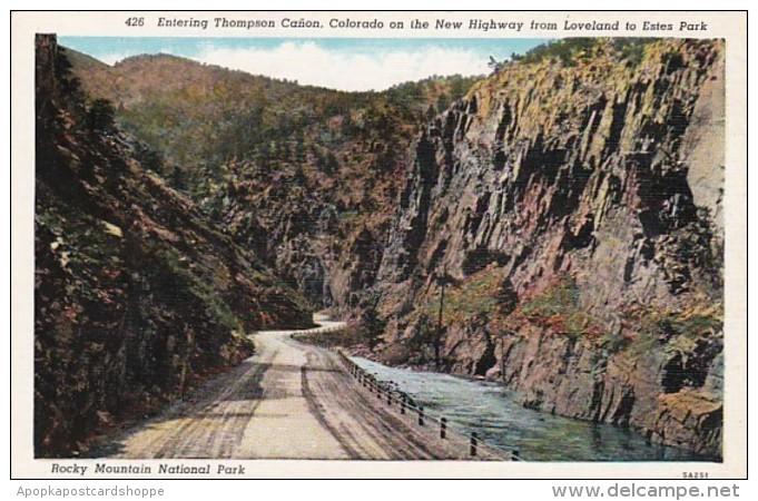 Colorado Rocky Mountains Entering Thompson Canon