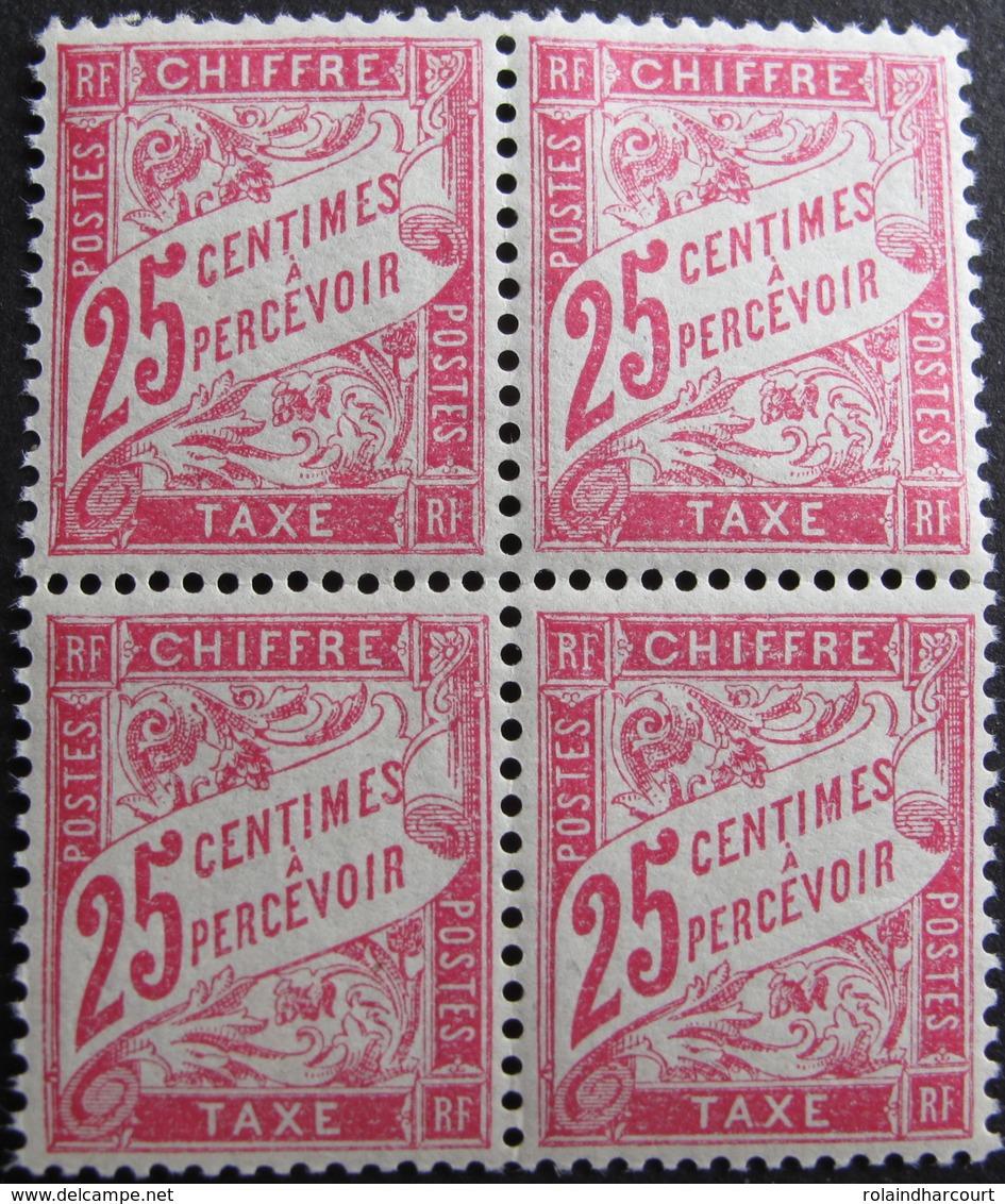 LOT FD/1477 - 1893 - T. TAXE - BLOC DE 4 TIMBRES NEUFS** - N°32 - Cote : 52,00 € - 1859-1955 Mint/hinged