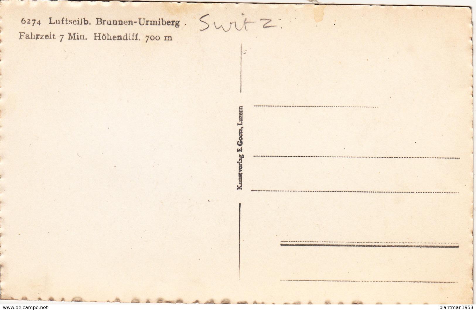 Small Post Card Of Luftseilb,Brunnen-Urmiberg,Switzerland,R44. - Switzerland