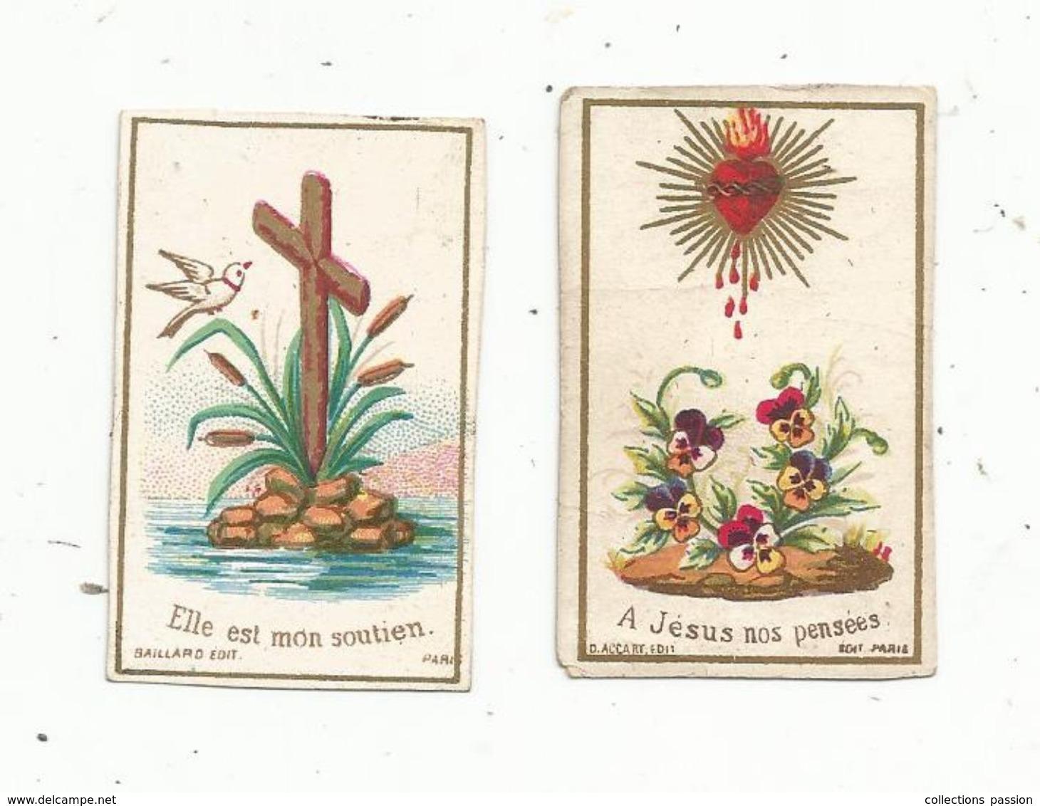Image Pieuse , Religieuse , LOT DE 2 MINI IMAGES RELIGIEUSES - Andachtsbilder