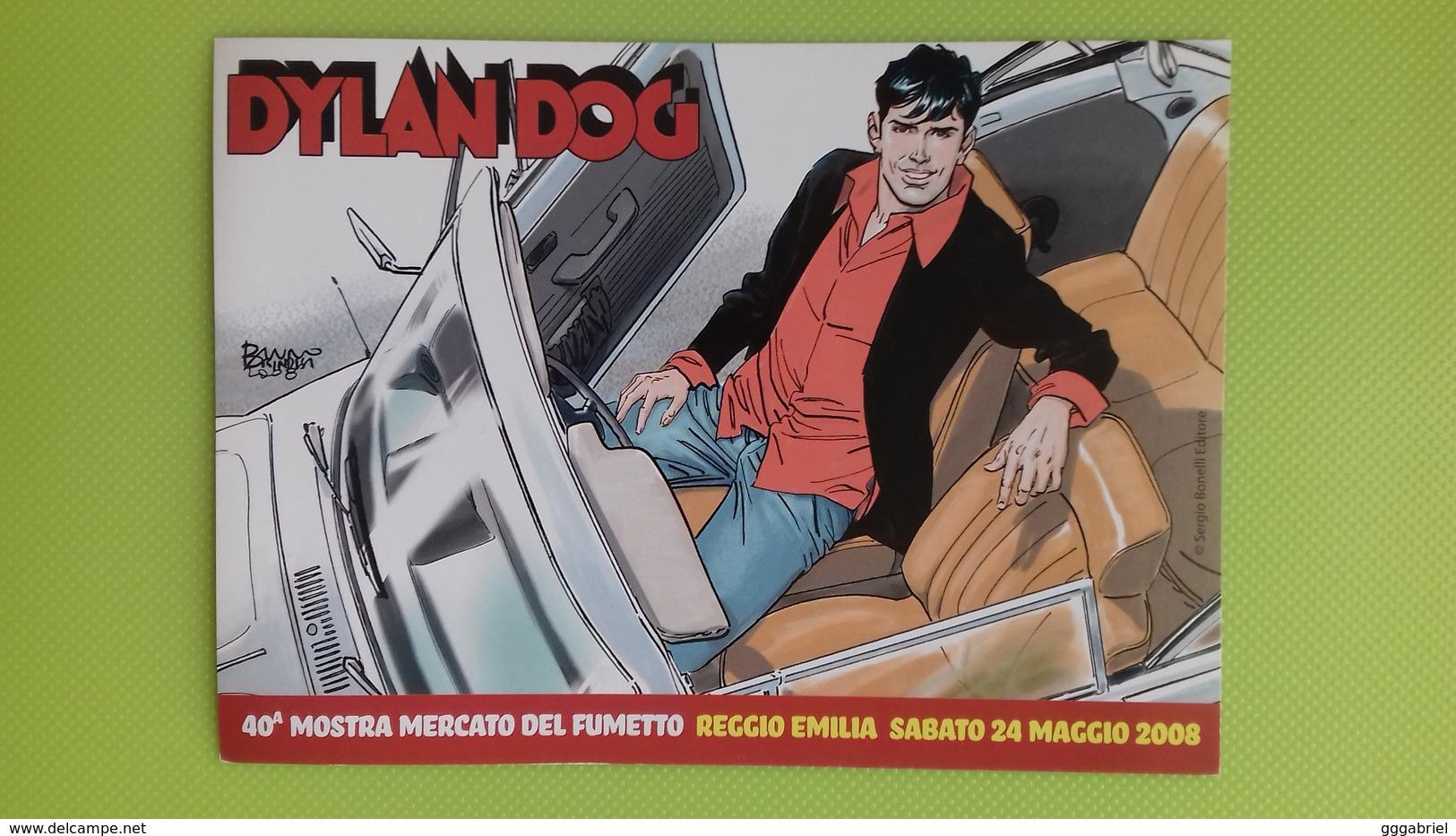 Cartolina DYLAN DOG - 40° Mostra Fumetto Reggio Emilia - 22 Maggio 2008 - Brindisi - Comics