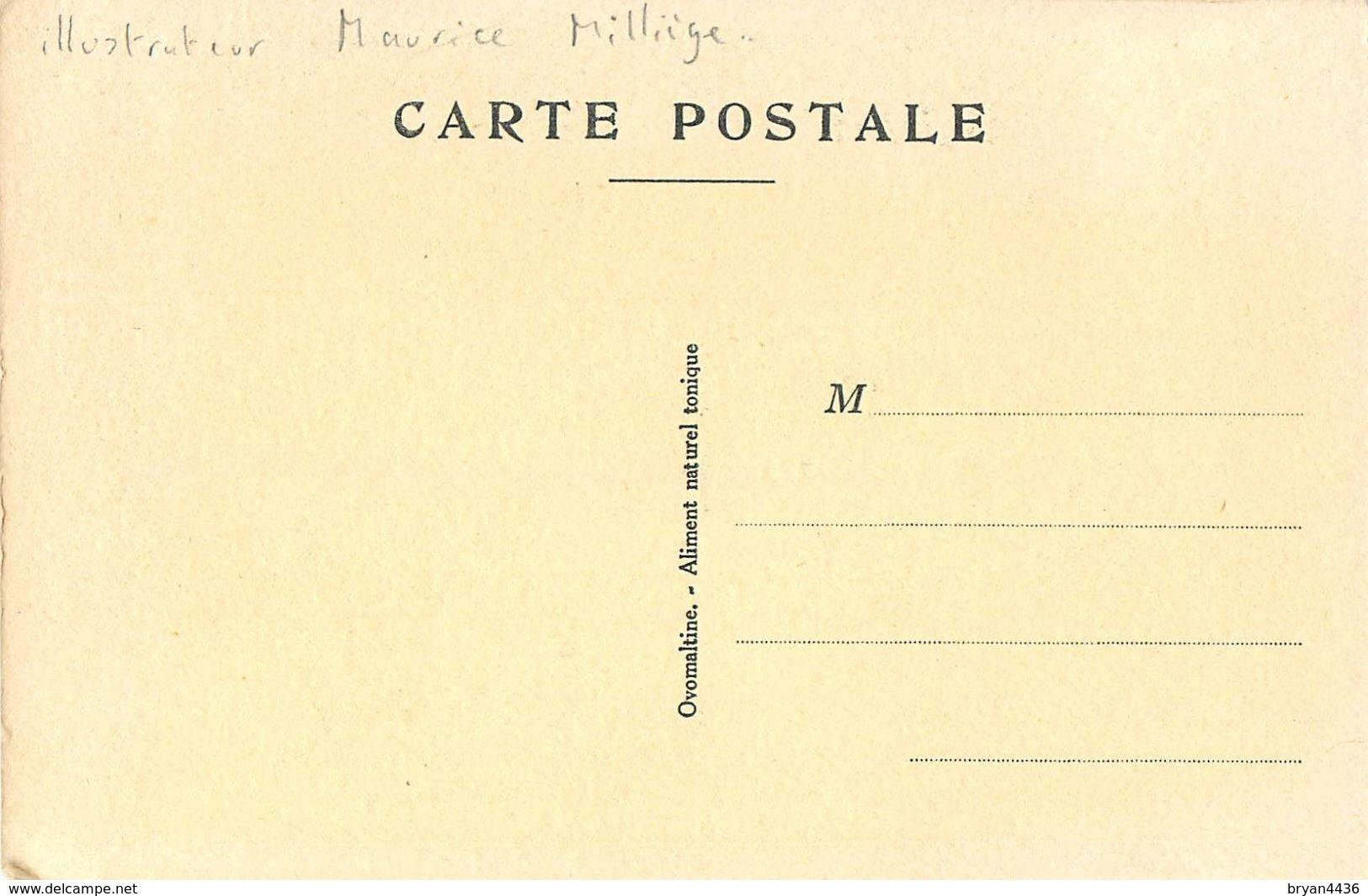 """MILLIERE - ILLUSTRATEUR - CPA THEMME PUBLICITE SANTE - MEDICAMENT; """"OVOMALTINE"""" Aliment Chocolaté Tonique - TB ***. - Milliere"""