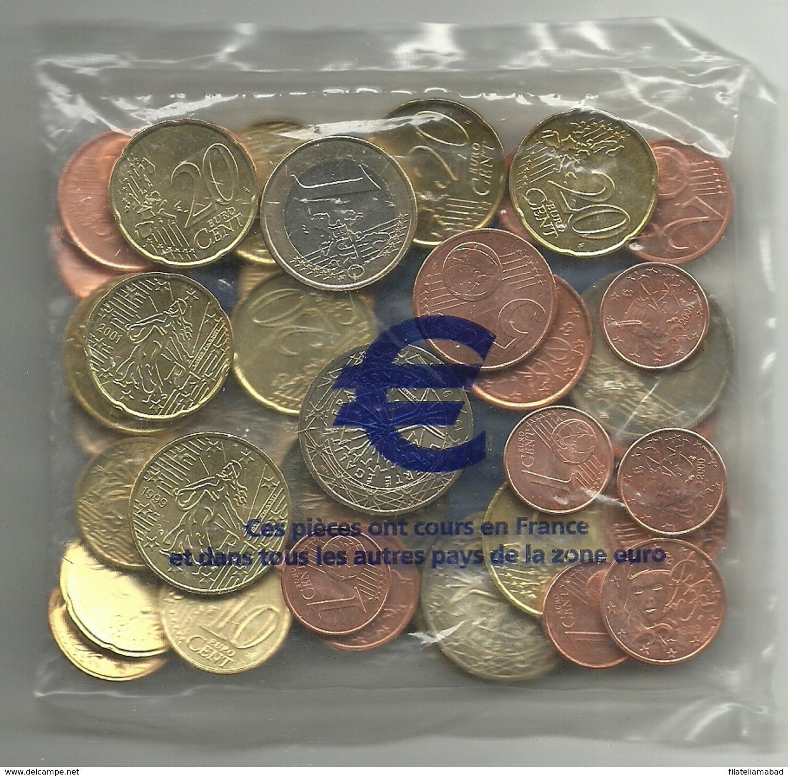 FRANCIA LOTE DE EUROS SIN CIRCULAR (M.C.5.17) - Monedas & Billetes