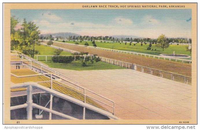 Arkansas Hot Springs Oaklawn Race Track Curteich