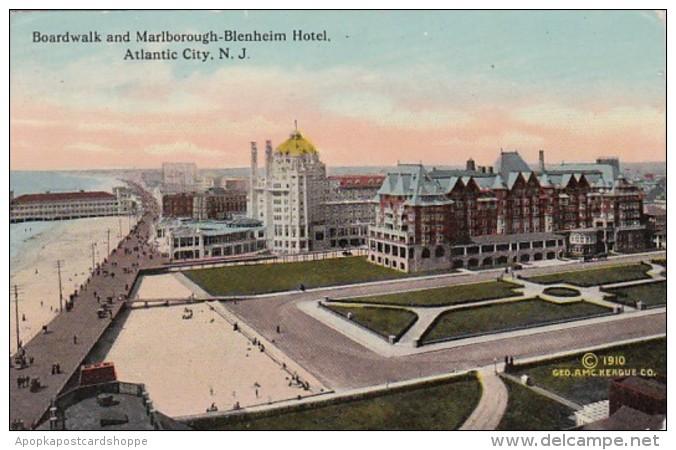 New Jersey Atlantic City Boardwalk and Marlborough-Blenheim Hote