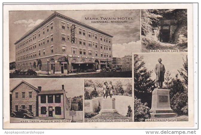 Missouri Hannibal Mark Twain Hotel Museum Home Statue & Cave