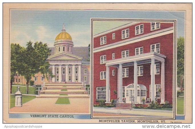 Vermont Montpelier State Capitol & Montpelier Tavern Curteic