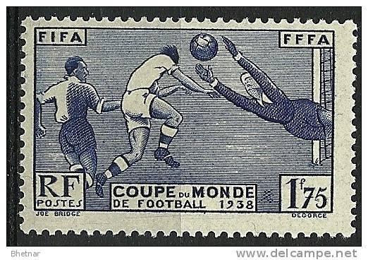 """FR YT 396 """" Coupe De Monde De Football """" 1938 Neuf* - France"""