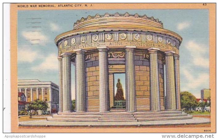 New Jersey Atlantic City World War Memorial 1951