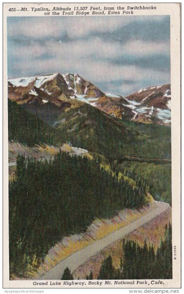 Colorado Mt Ypsilon Grand Lake Highway Rocky Mountain National P
