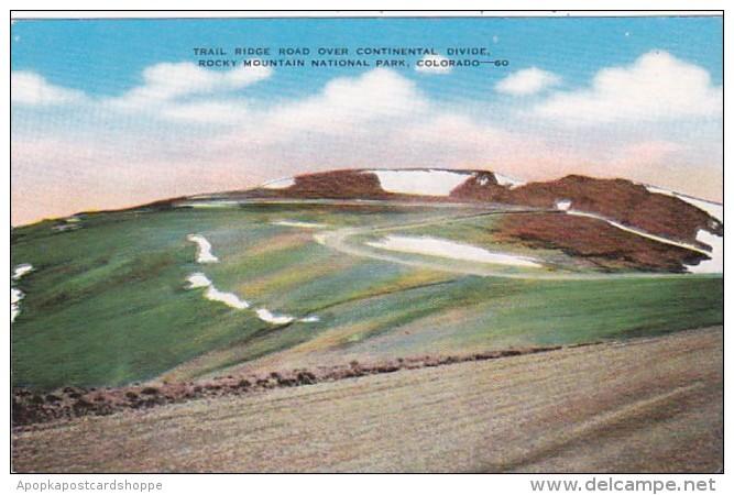Colorado Trail Ridge Road Over Continental Divide Rocky Mountain