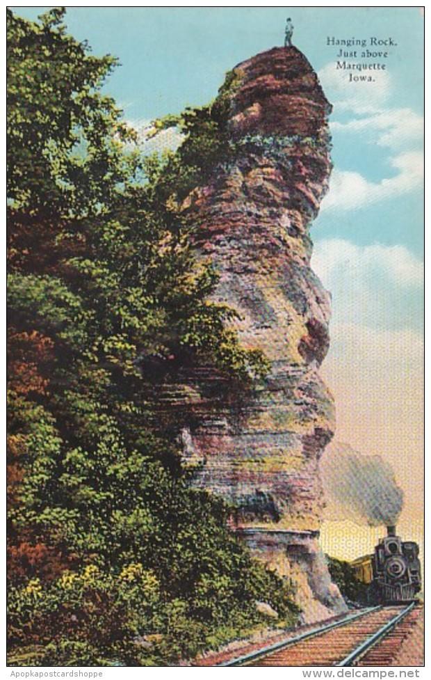 Iowa Train At Hanging Rock Just Above Marquette Curteich