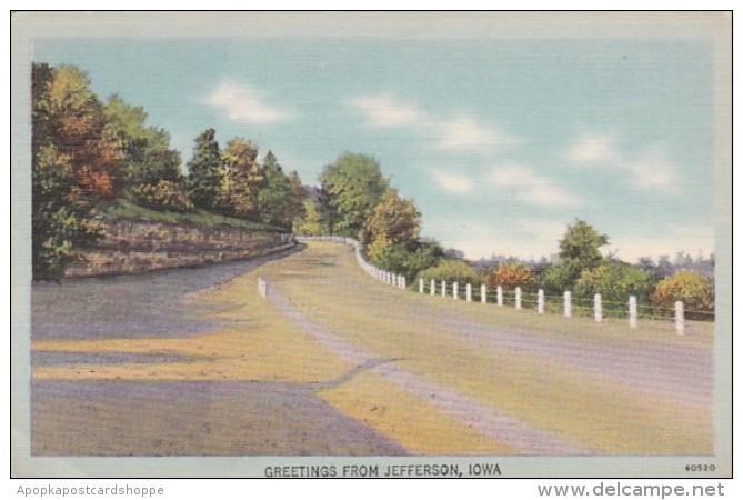 Iowa Greetings From Jefferson 1947