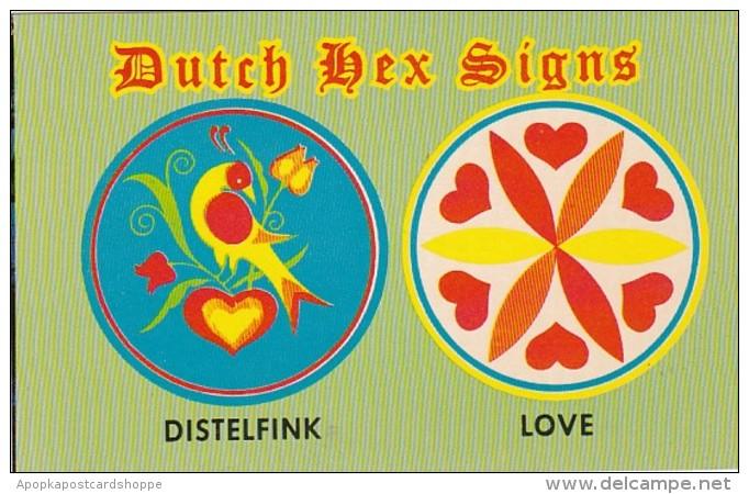Pennsylvania Dutch Hex Signs Distelfink and Love