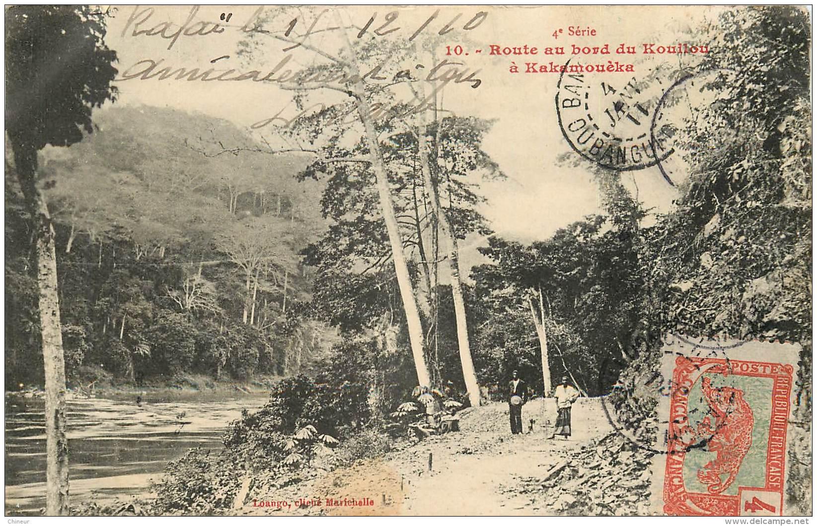 CONGO FRANCAIS  ROUTE AU BORD DU KOUILOU A KAKAMOUEKA - Congo Français - Autres
