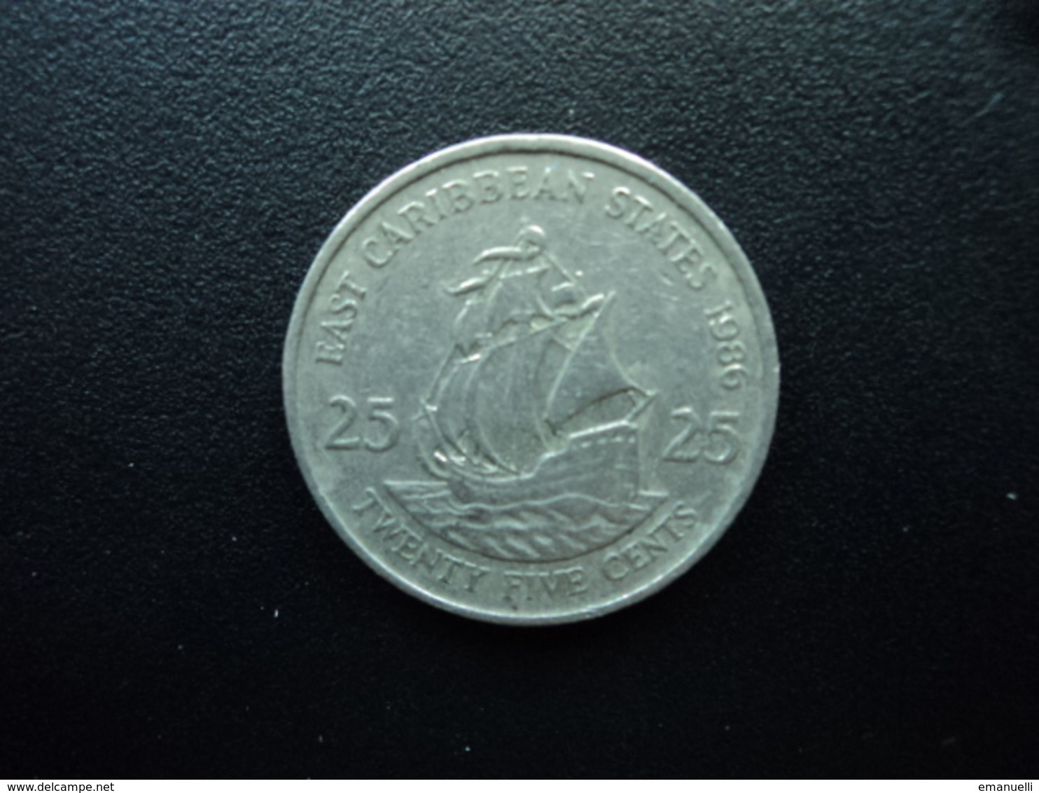 CARAÏBES ORIENTALES : 25 CENTS   1986   KM 14    TTB - Caraïbes Orientales (Etats Des)