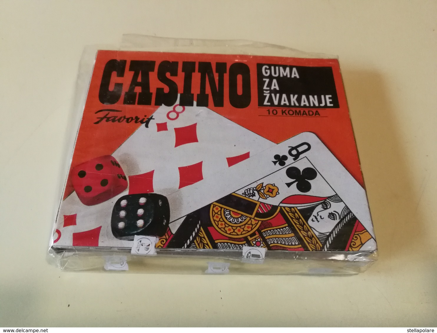 CASINO FAVORIT BUBBLE GUM VINTAGE PACKET YUGOSLAVIA ZVAKE - Other Collections