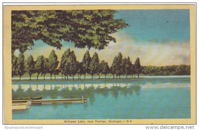 Michigan Williams Lake Near Pontiac Dexter Press