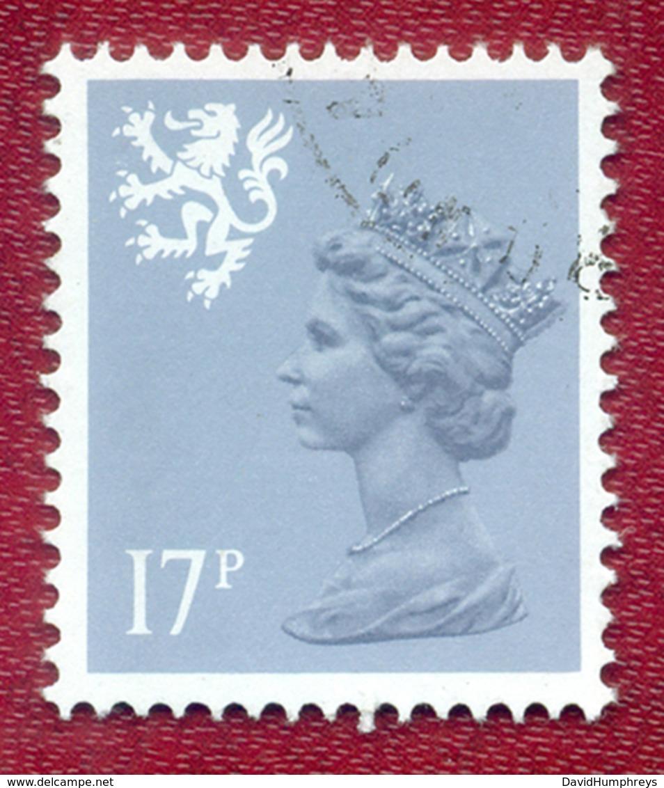 Great Britain GB Regional Scotland 1971 - 1993 17p Grey Blue Machin Used - Regional Issues