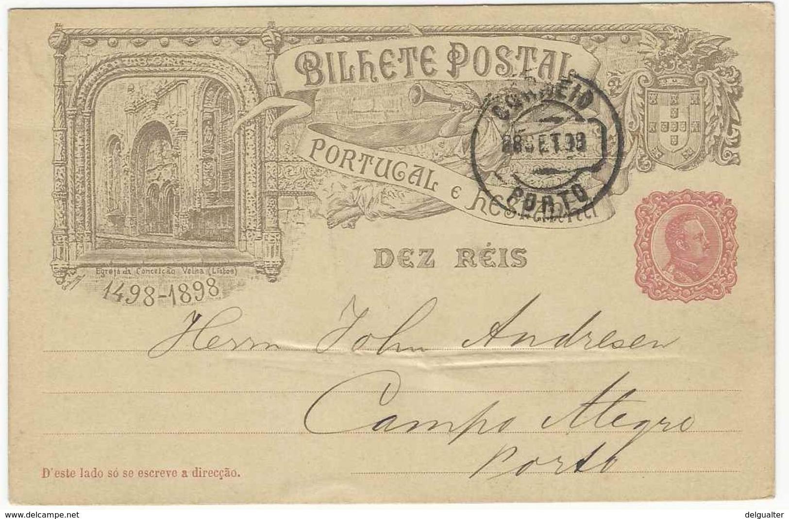 Postal Stationery * Portugal * 1898 * Porto * Egreja Da Conceição Velha (Lisboa) - Entiers Postaux