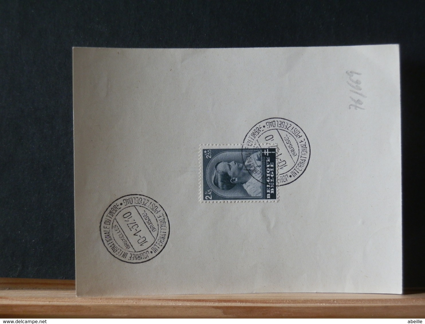 76/678   DOC. BELGE 1937 - FDC