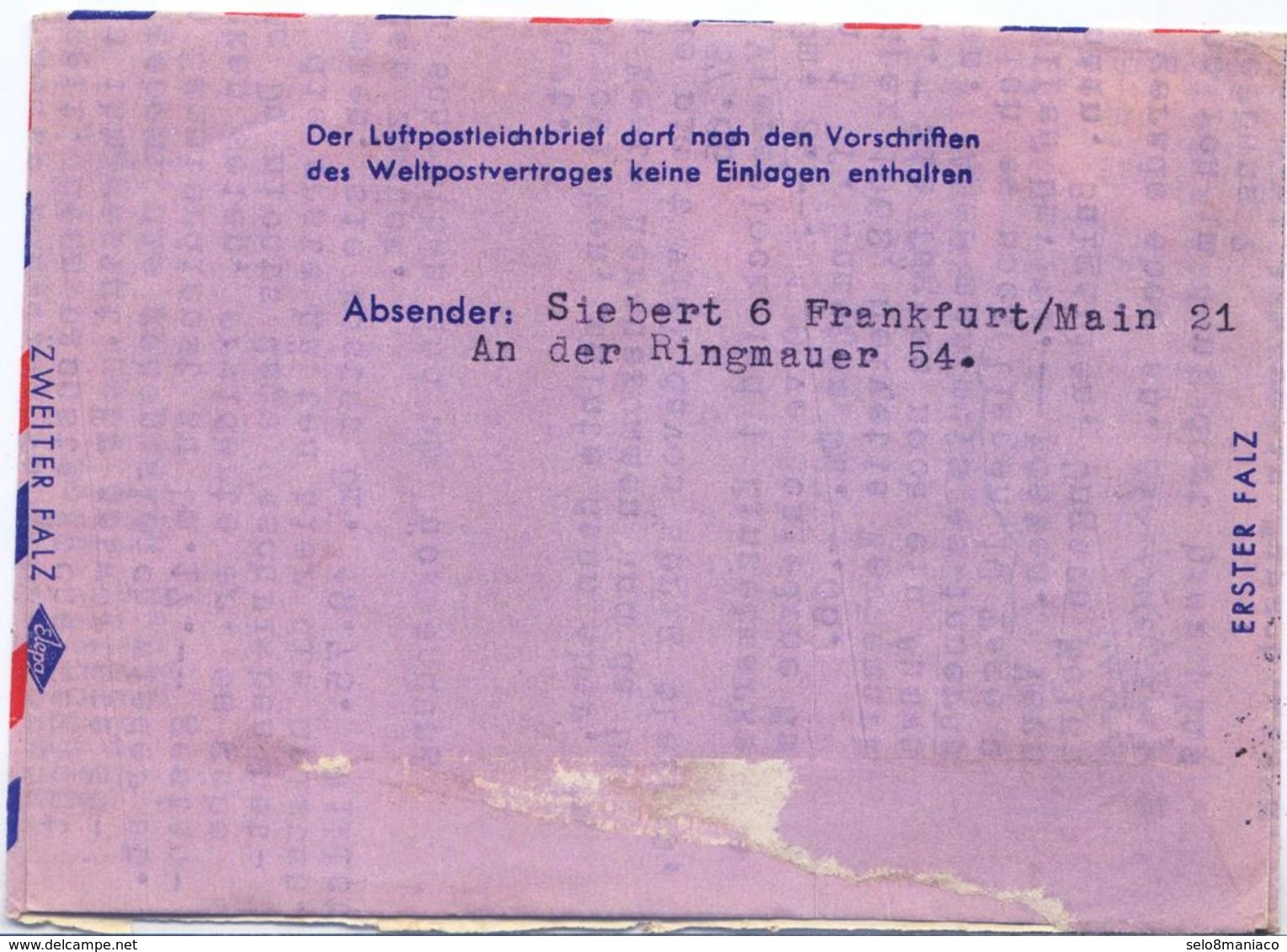 C2498-Germany-Aerogramme From Frankfurt To Curitiba, Brazil-1962 - Lettres & Documents