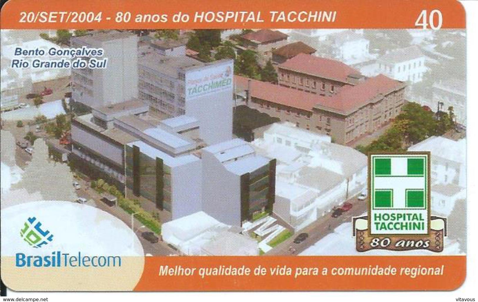 80 Ans Hopital Tacchini Santé Télécarte Brésil Phonecard  (D 287) - Brazil