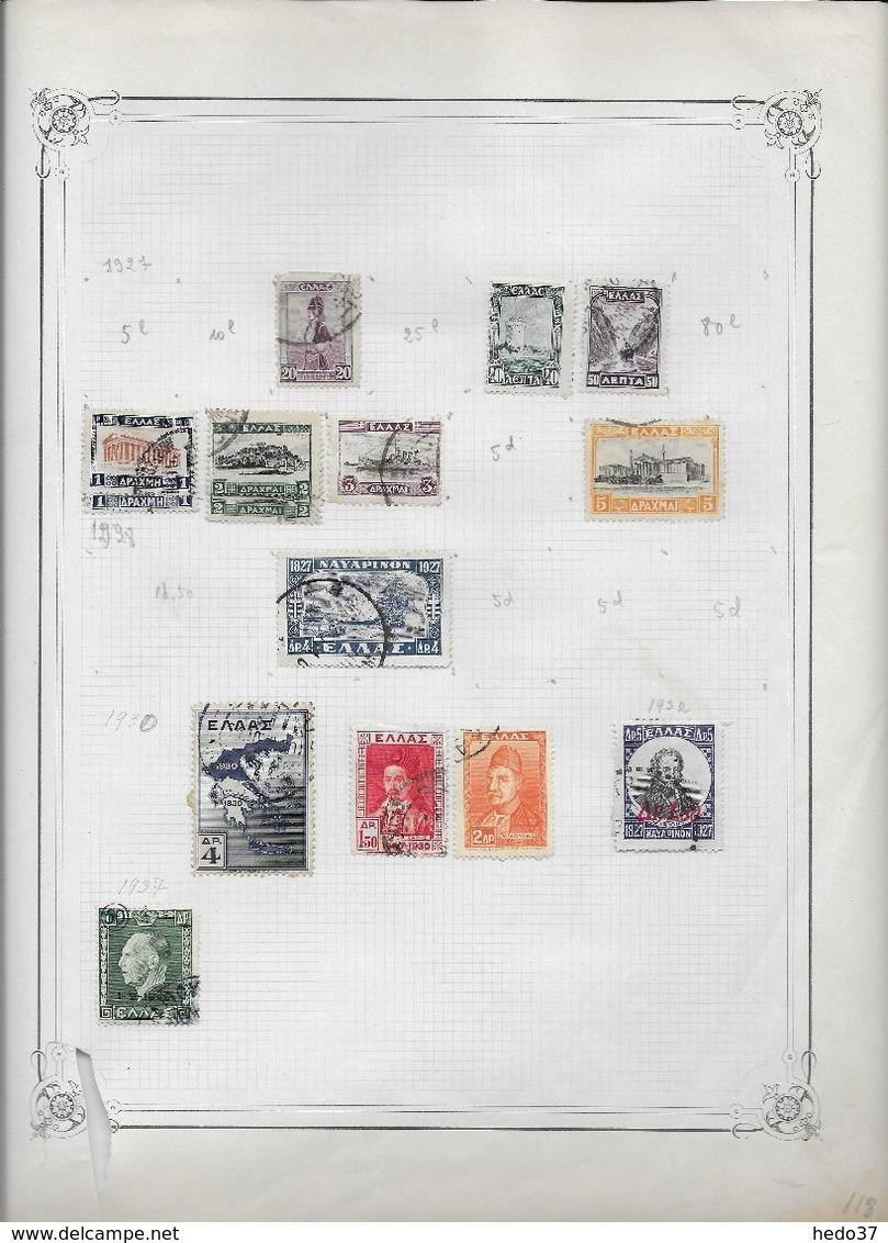 Grèce - Collection Vendue Page Par Page - Timbres Oblitérés / Neufs * - B/TB - Collections