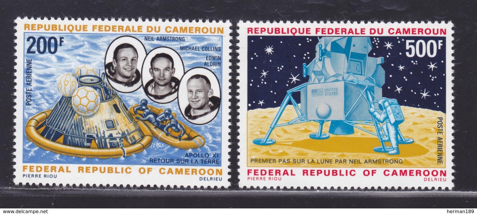 CAMEROUN AERIENS N°  146 & 147 ** MNH Neufs Sans Charnière, TB (D6535) Cosmos, Apollo 11 - Cameroon (1960-...)