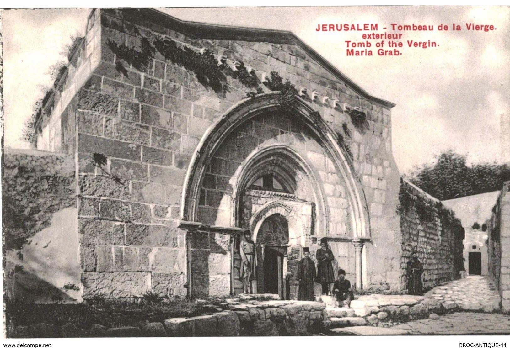 CPA N°21136 - LOT DE 5 CARTES DE JERUSALEM - TOMBEAU OU CHAPELLE DE LA VIERGE + VALLEE DE JOSAPHAT - Palästina