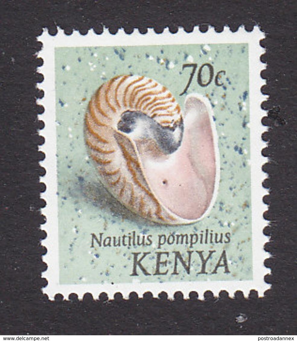 Kenya, Scott #52, Mint Hinged, Shells, Issued 1971 - Kenya (1963-...)