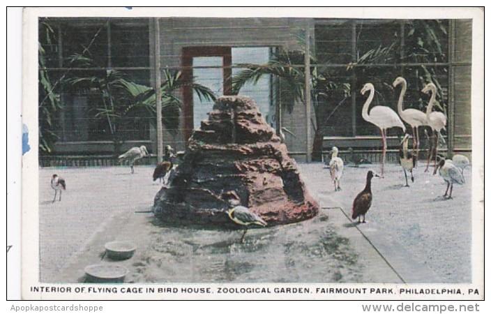 Pennsylvania Philadelphia Interior Of Flying Cage In Bird House