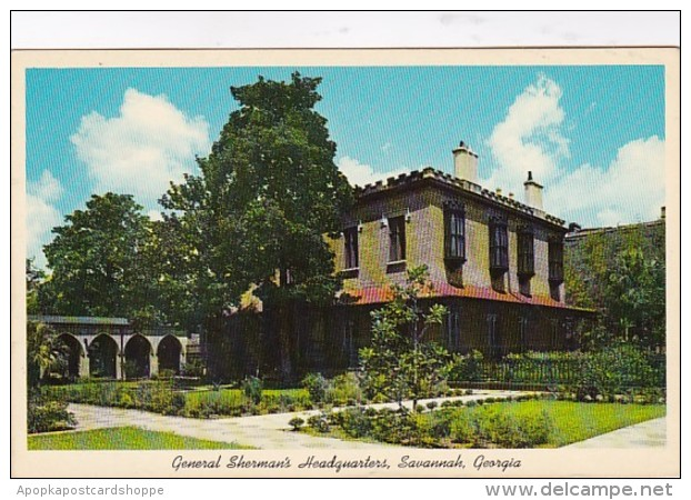 Georgia Savannah General Sherman's Headquarters 1964