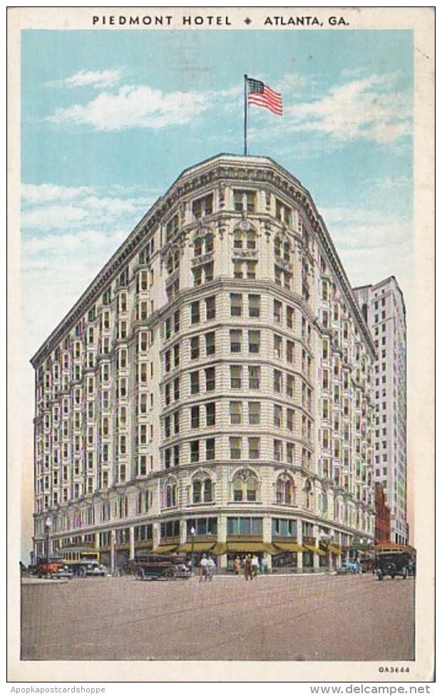 Georgia Atlanta Piedmont Hotel 1938 Curteich