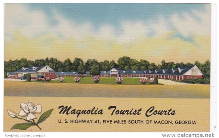 Georgia Macon Magnolia Tourist Courts Curteich