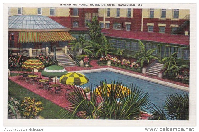 Georgia Savannah Hotel De Soto Swimming Pool