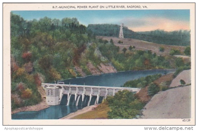 Virginia Radford Municipal Power PLant Dam On Little River