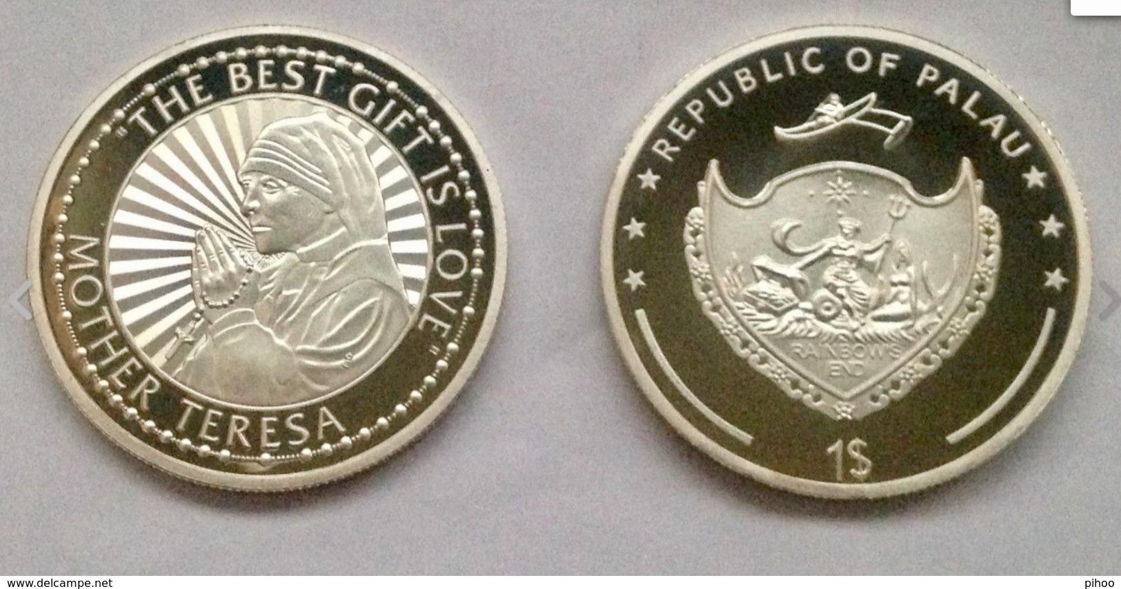 Silver Coin Mother Teresa Palau - Palau