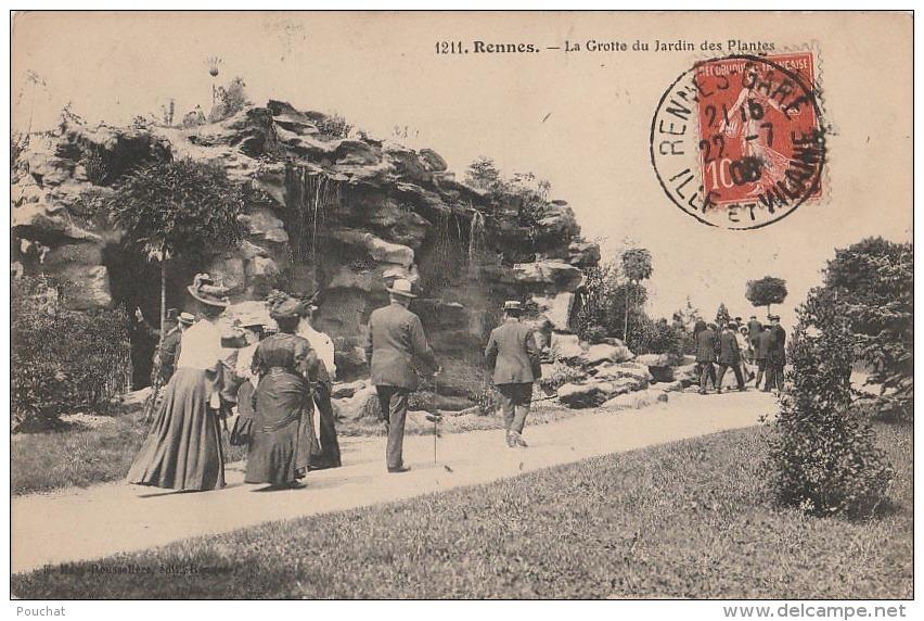 M25- 35) RENNES - LA GROTTE DU JARDIN DES PLANTES - (TRES ANIMEE) - Rennes