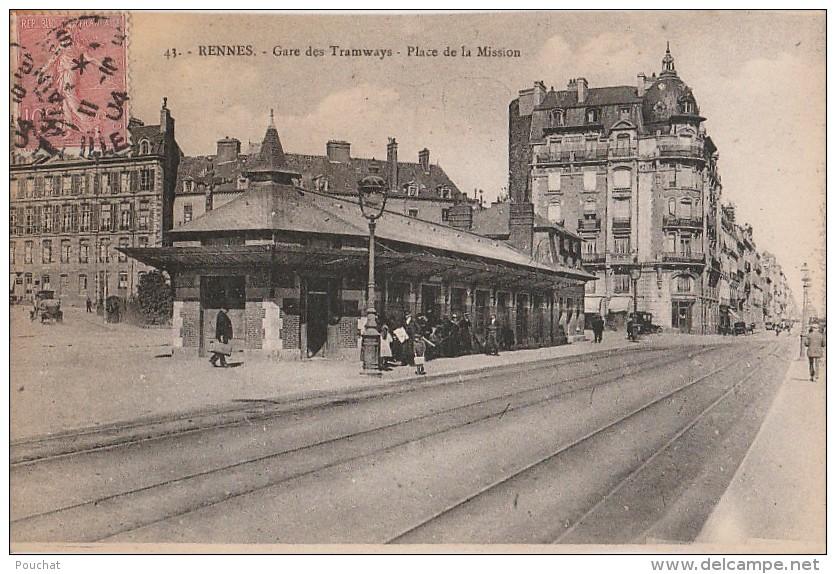 M25- 35) RENNES - GARE DES TRAMWAYS - PLACE DE LA MISSION  - (ANIMEE) - Rennes