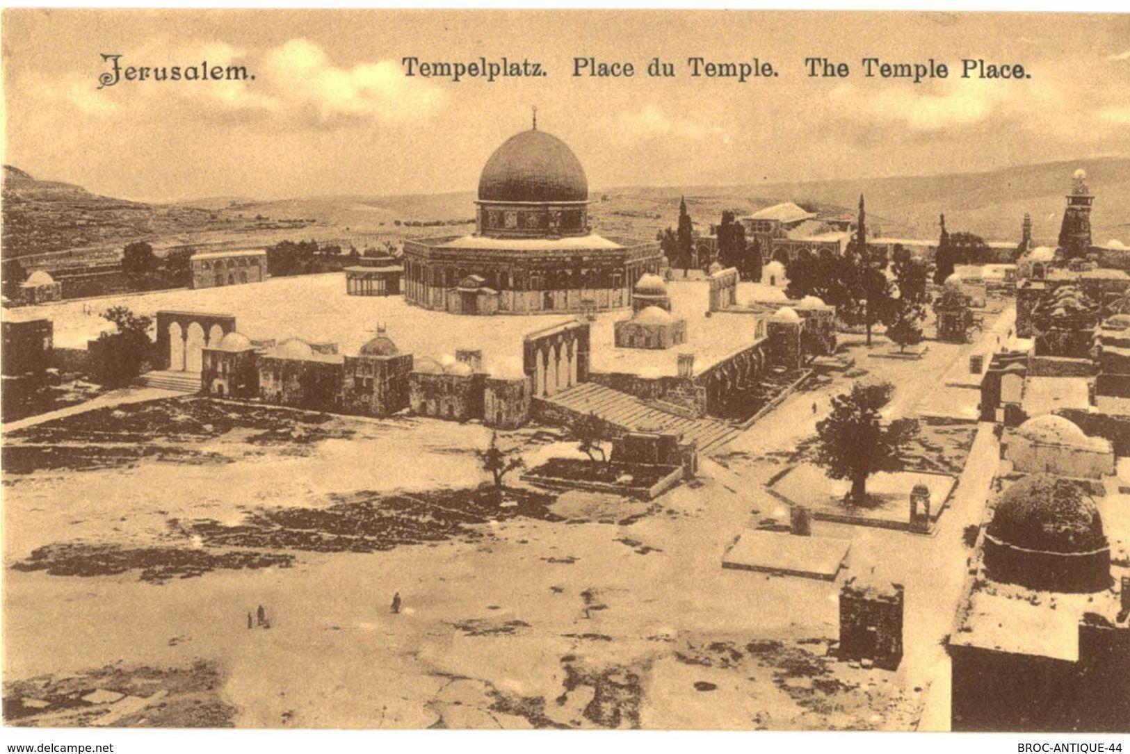 CPA N°21139 - LOT DE 12 CARTES DE JERUSALEM - MOSQUEE D' OMAR ESPLANADE DU TEMPLE EGLISE SAINTE ANNE ET SEMINAIRE - Palästina
