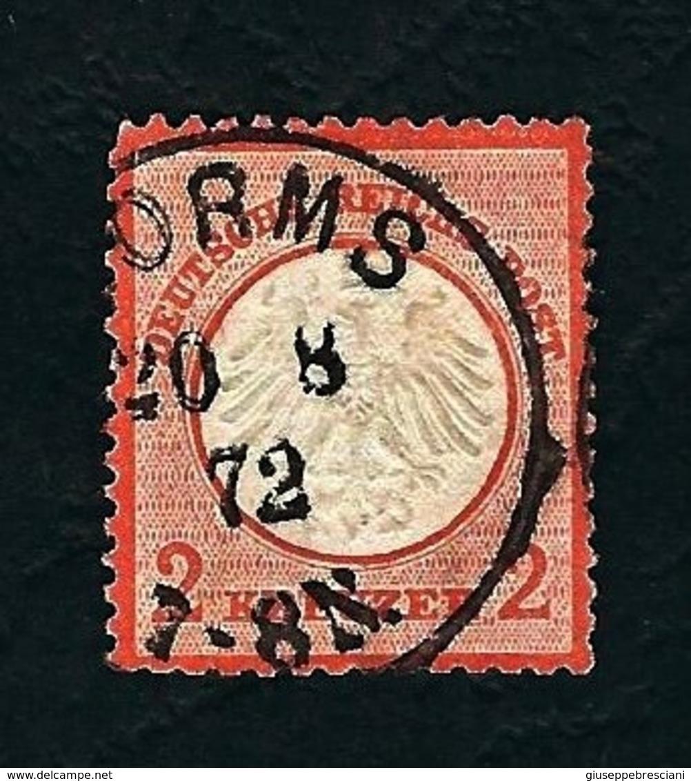 DEUTSCHES REICH 1872 - Aquila A Rilievo In Un Cerchio / Piccolo Scudo Sull'aquila - 2 K. Arancio- Michel DR 8a - Germania
