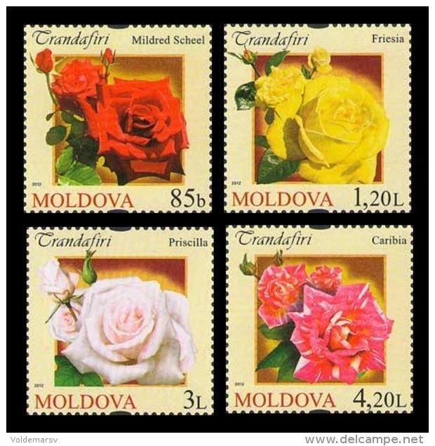 Moldova 2012 Mih. 805/08 Flora. Flowers. Roses MNH ** - Moldavië