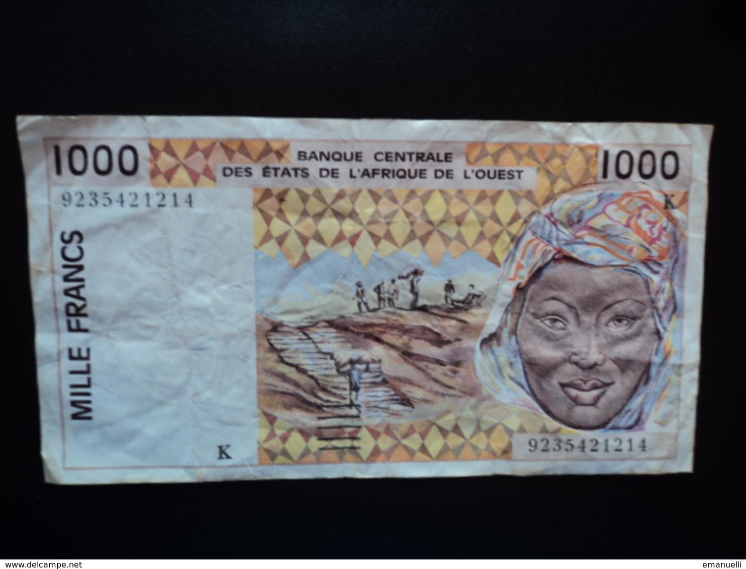 SÉNÉGAL : 1000 FRANCS  (19)92   P 711Kb *   TTB - Sénégal