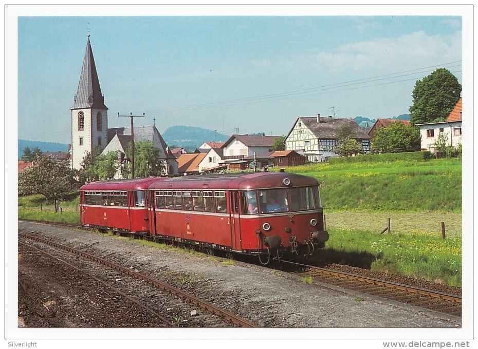 DB - Diesel-Schienenbus VT 789 602-9 (ex VT 98 9602) Als N 5826 Am Hbf. Echweisbach/Rhön - Eisenbahnen