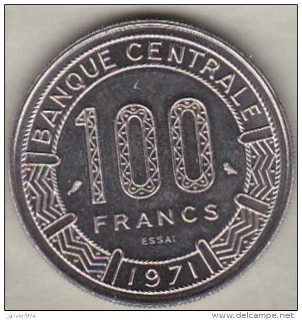 TCHAD 100 FRANCS ESSAI 1971 KM# E 3 - Tsjaad