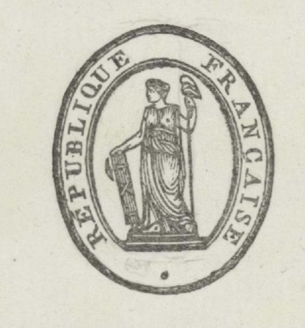 Avignon An 8 – 18.6.1800 - Signature Du  Préfet Pelet Secrétaire Général Jean  Empreinte Du  Sceau  Héraldique - Historische Dokumente