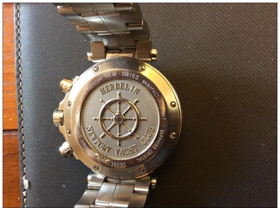 Montre Herbelin Plonger 100M Chronographe - Montres Haut De Gamme